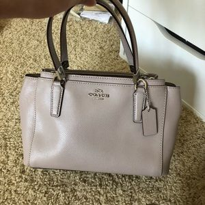 Coach small handle detectable strap purse